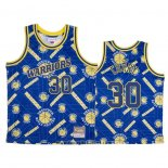 Maglia Golden State Warriors Stephen Curry No 30 Hardwood Classics Tear Up Pack Blu