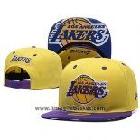 Cappellino Los Angeles Lakers Snapback Giallo Viola