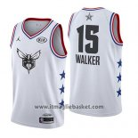 Maglia All Star 2019 Charlotte Hornets Kemba Walker No 15 Bianco