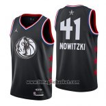 Maglia All Star 2019 Dallas Mavericks Dirk Nowitzki No 41 Nero