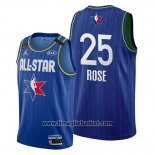 Maglia All Star 2020 Detroit Pistons Derrick Rose No 25 Blu