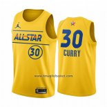 Maglia All Star 2021 Golden State Warriors Stephen Curry No 30 Or