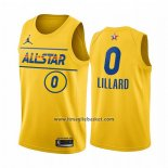 Maglia All Star 2021 Portland Trail Blazers Damian Lillard No 0 Or