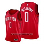 Maglia Houston Rockets Russell Westbrook No 13 Earned 2019 Rosso