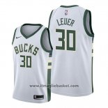 Maglia Milwaukee Bucks Jon Leuer No 30 Association Bianco
