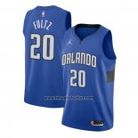 Maglia Orlando Magic Markelle Fultz No 20 Statement 2020-21 Blu
