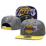 Cappellino Los Angeles Lakers 9FIFTY Snapback Grigio Giallo