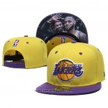 Cappellino Los Angeles Lakers Lebron James & Kobe Bryant 9FIFTY Snapback Amarill