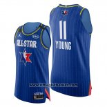 Maglia All Star 2020 Eastern Conference Trae Young No 11 Blu