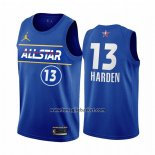 Maglia All Star 2021 Brooklyn Nets James Harden No 13 Blu
