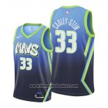 Maglia Dallas Mavericks Willie Cauley-stein No 33 Citta 2020 Blu