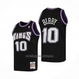 Maglia Sacramento Kings Mike Bibby No 10 Mitchell & Ness 2001-02 Nero