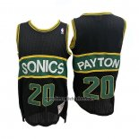 Maglia Seattle Supersonics Gary Payton No 20 Mitchell & Ness 1994-95 Nero