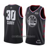 Maglia All Star 2019 Golden State Warriors Stephen Curry No 30 Nero