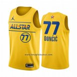 Maglia All Star 2021 Dallas Mavericks Luka Doncic No 77 Or