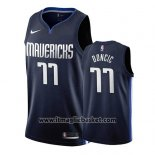 Maglia Dallas Mavericks Luka Doncic No 77 Statement 2019-20 Blu