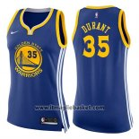Maglia Donna Golden State Warriors Kevin Durant No 35 Icon 2017-18 Blu