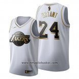 Maglia Golden Edition Los Angeles Lakers Kobe Bryant No 24 2019-20 Bianco