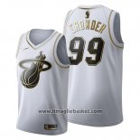Maglia Golden Edition Miami Heat Jae Crowder No 99 2019-20 Bianco