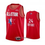 Maglia All Star 2020 Los Angeles Lakers Kobe Bryant No 24 Rosso