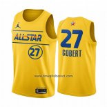 Maglia All Star 2021 Utah Jazz Rudy Gobert No 27 Or