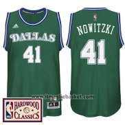 Maglia Dallas Mavericks Dirk Nowitzki No 41 Retro Verde