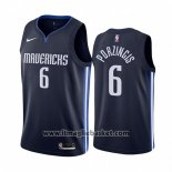 Maglia Dallas Mavericks Kristaps Porzingis No 6 Statement 2019-20 Blu