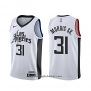 Maglia Los Angeles Clippers Marcus Morris Sr. NO 31 Classic Edition Bianco