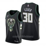 Maglia Milwaukee Bucks Jon Leuer No 30 Statement Nero
