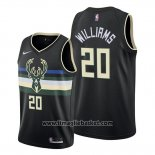 Maglia Milwaukee Bucks Marvin Williams No 20 Nero 2019-20 Statement