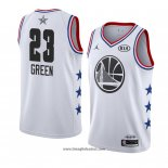 Maglia All Star 2019 Golden State Warriors Draymond Green No 23 Bianco