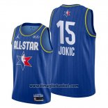 Maglia All Star 2020 Denver Nuggets Nikola Jokic No 15 Blu