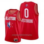 Maglia All Star 2020 Houston Rockets Russell Westbrook No 0 Rosso