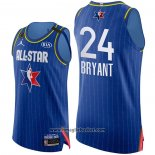 Maglia All Star 2020 Los Angeles Lakers Kobe Bryant No 24 Autentico Blu
