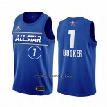 Maglia All Star 2021 Phoenix Suns Devin Booker No 1 Blu