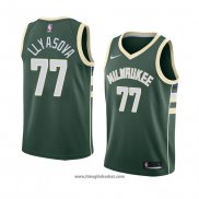 Maglia Milwaukee Bucks Ersan Llyasova No 77 Icon 2018 Verde