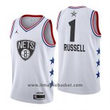 Maglia All Star 2019 Brooklyn Nets Dangelo Russell No 1 Bianco