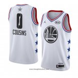 Maglia All Star 2019 Golden State Warriors Demarcus Cousins No 0 Bianco