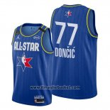 Maglia All Star 2020 Dallas Mavericks Luka Doncic No 77 Blu