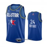 Maglia All Star 2020 Los Angeles Lakers Kobe Bryant No 24 Blu
