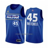 Maglia All Star 2021 Utah Jazz Donovan Mitchell No 45 Blu
