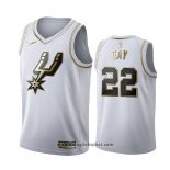 Maglia Golden Edition San Antonio Spurs Rudy Gay No 22 Bianco