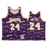 Maglia Los Angeles Lakers Kobe Bryant No 24 Hardwood Classics Tear Up Pack Viola