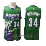 Maglia Milwaukee Bucks Giannis Antetokounmpo No 34 2019-20 Verde