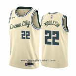 Maglia Milwaukee Bucks Khris Middleton No 22 Citta Crema