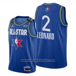 Maglia All Star 2020 Los Angeles Clippers Kawhi Leonard No 2 Blu