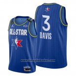 Maglia All Star 2020 Los Angeles Lakers Anthony Davis No 3 Blu