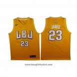 Maglia Lbj Los Angeles Lakers Lebron James No 23 Or
