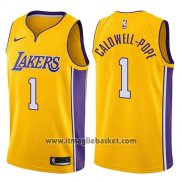 Maglia Los Angeles Lakers Kentavious Caldwell-pope No 1 Swingman Icon 2017-18 Or