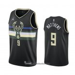 Maglia Milwaukee Bucks Wesley Matthews No 9 Statement 2020-21 Nero